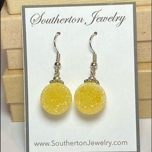 Yellow 'Gum Drop Candy' Earrings